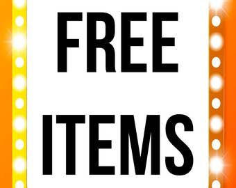 Free sticker sheet with purchase of any decorated paperclip or Two free sticker sheets with the purchase of any paperclip set of two or more