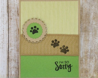 I'm so Sorry, pet sympathy card, condolence cards, thinking of you cards, so sorry for your loss
