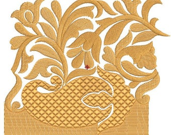 Machine Embroidery Design Border, Lace Embroidery Pattern 5x4,Paadar Club,