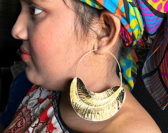 fulani earrings, goldplated earrings, fashion jewelry,vintage african jewelry,handmade earrings,