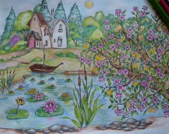 Peach tree in fairy's garden