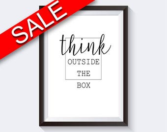 Wall Art Think Digital Print Think Poster Art Think Wall Art Print Think Inspiring Art Think Inspiring Print Think Wall Decor Think