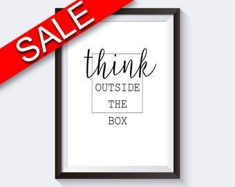 Wall Art Think Digital Print Think Poster Art Think Wall Art Print Think Inspiring Art Think Inspiring Print Think Wall Decor Think
