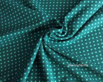 Jersey fabric points, dark turquoise, turquoise, Art7786