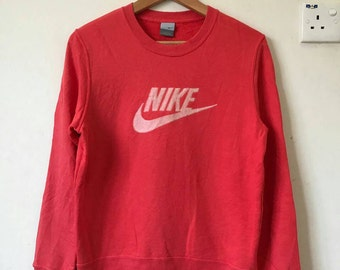 Rare!! Vintage Nike spellout big logo pullover sweatshirt, size L