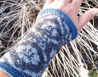 """Arm warmers, wrist warmers """"Klara"""" fair isle, cuffs, applies warmers"""