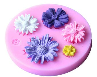 1Pcs Silicone Baking Cake Flower Mold 3D Fondant Cake Decorating Bakery Pastry Tools Cake DIY Design Silicone Chocolate Mold
