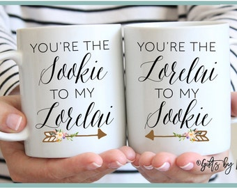 Personalized Best Friend Gift, Best Friend Gift, Friendship gift, gift mug, Unique Friendship Gift, you're the sookie to my lorelai, m-226-7
