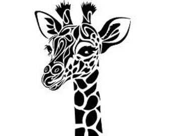 Tribal Giraffe Etsy