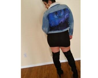 Starry Night Jean Jacket
