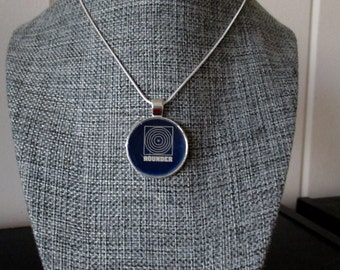 Recycled vinyl record sleeve necklace - Rounder Records!""