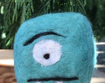 Felted Monster Soap