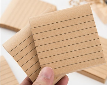 Simple KraftPaper Sticky Notes, Post It Notes, Reminder Notes, Memo Pad Stickers