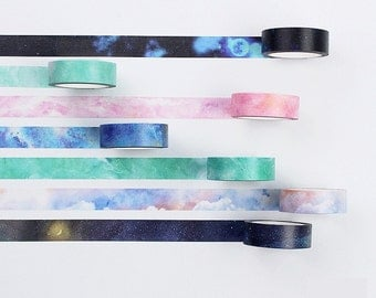 Water Color Fading Japanese Washi Tape Deco Tape - 15mm X 7 metres