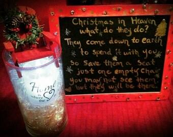 Christmas in Heaven Chair & Saying