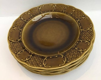 Boch La Louviere hollow plates Mid Century, soup plates, vintage table, dinner table, lunch table, belgian faience, vintage porcelain.