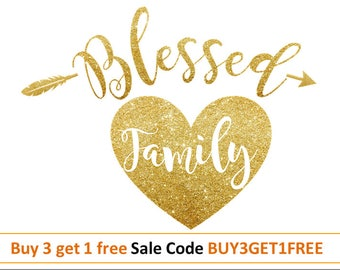 family svg family sign svg Blessed svg heart svg mothers day shirt svg design family DXF PNG cut file for Silhouette Vinyl files for cricut