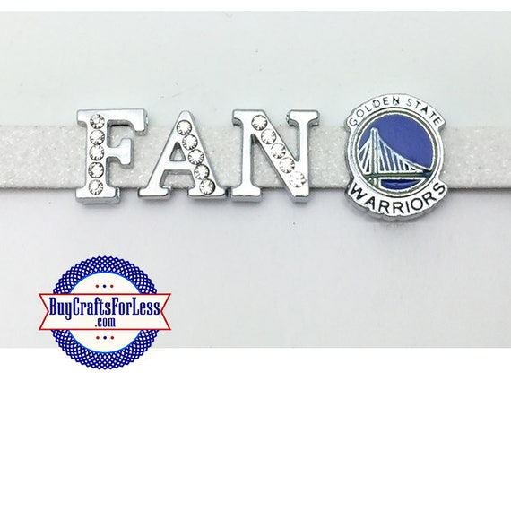 GOLDEN STATE Charms, Warriors Charm for Slider Bracelet, Collar, or Key Ring +Discounts & FREE Shipping*