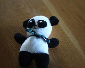 Hand Knitted Soft Toy Panda