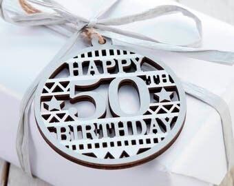 50th Birthday Gift Tag