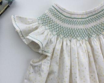 Smocked Dress, Smocked Bishop Dress, Smocked Dress Girls, Smocked Easter Dress, Smocked Dress Size 3