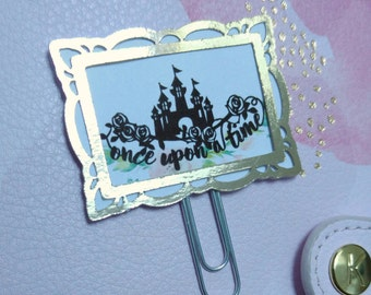 Paper clip bookmark Golden ounce frame upon a time - once upon a time paperclips