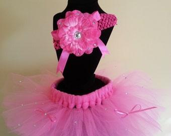 First birthday outfit girl, pink birthday girl tutu outfit, cake smash tutu, first birthday, newborn tutu dress, pink tutu, glitter tutu