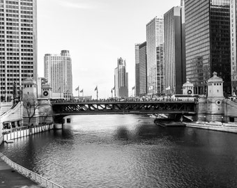 Chicago's State Street Bridge Digital Download-as seen from Michigan Avenue-Fine Art-Print it the way you want