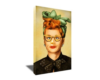 FREE SHIPPING Lucille Ball I love Lucy Funny Nose on Fire Canvas Art