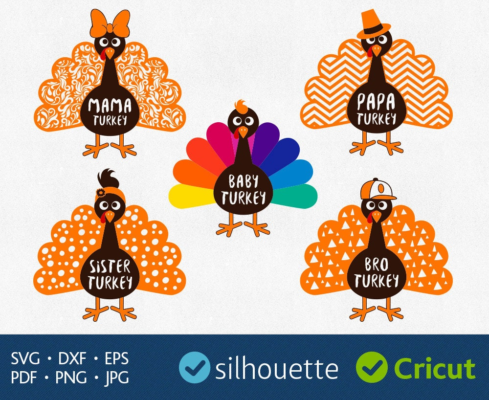 turkey svg files download bird clipart for silhouette dxf eps pdf
