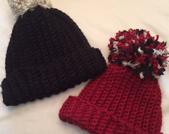 Thick crochet winter hat- Adult