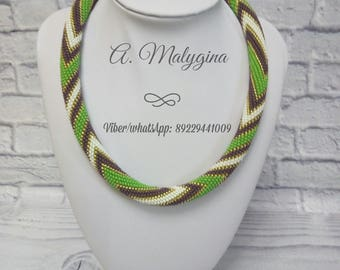 Necklace of handmade beads