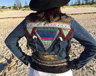 Boho gypsy jacket/gypsy boho jacket/gypsy soul/soul sister/boho festival jacket/hippie gypsy jacket/black spring jacket/embellished jacket