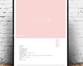 The 1975 album poster, Matty Healy poster, The 1975 album art, the 1975 Matty Healy pink poster, I like it when you sleep for you are so...