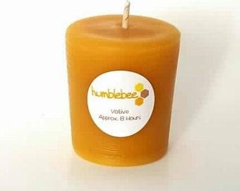 100% Natural Saskatchewan beeswax votive candle