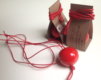 CHERRIES   Necklace with red (or yellow) ceramic   handmade gift box   Small wonders to wear