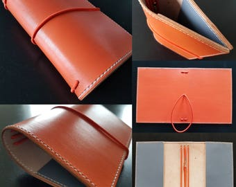 Don - Blaze orange and cement grey notebook cover