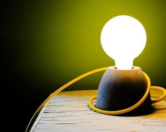 CLEARANCE - READY to GO concrete lamp,table lamp,desk lamp, modern/vintage, minimalist design, decorative lamp, beton lampe, lumière béton