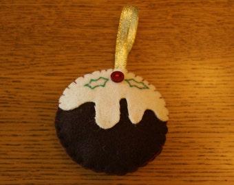 Handcrafted Christmas Pudding Christmas Tree Decoration