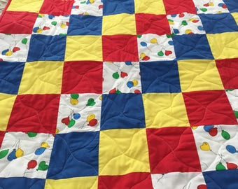 Real cute baby quilt.  Boy or girl. 35x36.