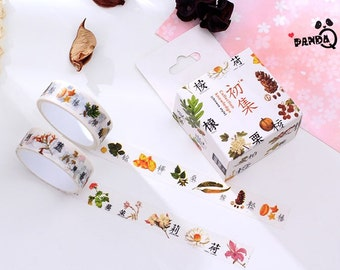 2 in 1  Plants Set,Washi Tape,Masking Tape, Planner Sticker,Japanese,Decoration Tape