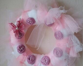 Handmade baby wreath