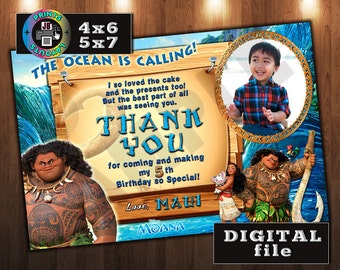 MAUI Thank You Card, Custom DIGITAL File only, JPEG (D#4)