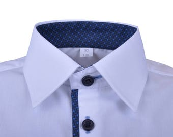 White and elegant shirt perfectly for wedding