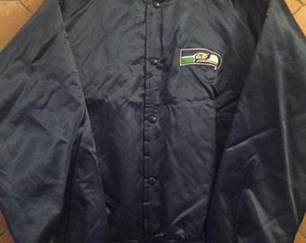 Vintage Seattle Seahawks Chalkline windbreaker Size: L