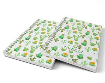 Cactus Notebook.  Hard Cover Spiral Notebook. Notepad. Journal.