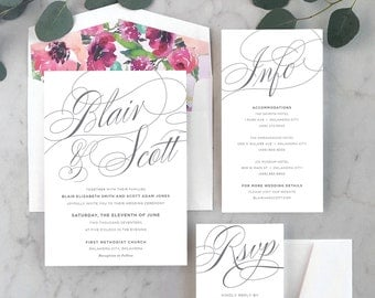 Simply Whimsical Wedding Invitations