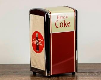 Vintage Coca Cola - Vintage Coke - Vintage Coca Cola Napkin Holder Dispenser-Coca Cola Collectible - Vintage Double Sided Napkin Dispenser