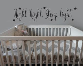 Night Night Sleep Tight, Wall sticker