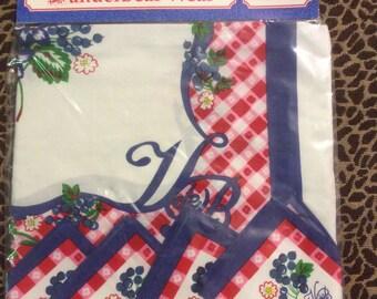Muffy VanderBear Picnic Tablecloth & 4 Napkins mint in plastic